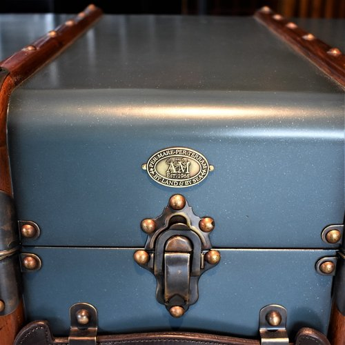 Authentic Models Stateroom Trunk Table Petrol