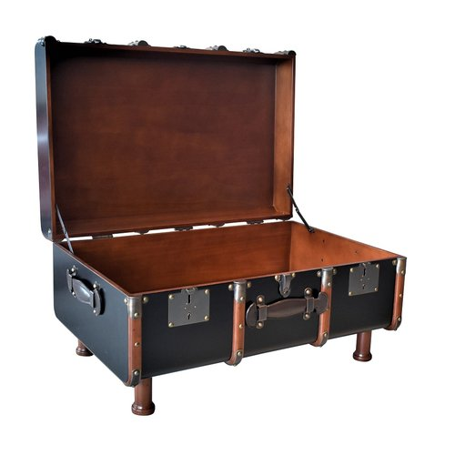 Authentic Models Stateroom Trunk Table Black